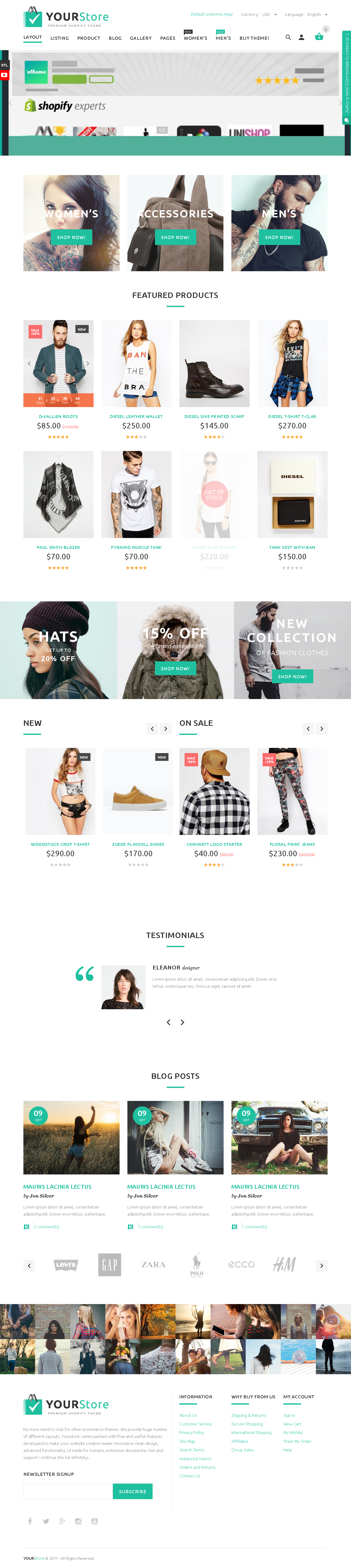 Best 5 Shopify Themes For Artists - YourStore Shopify theme