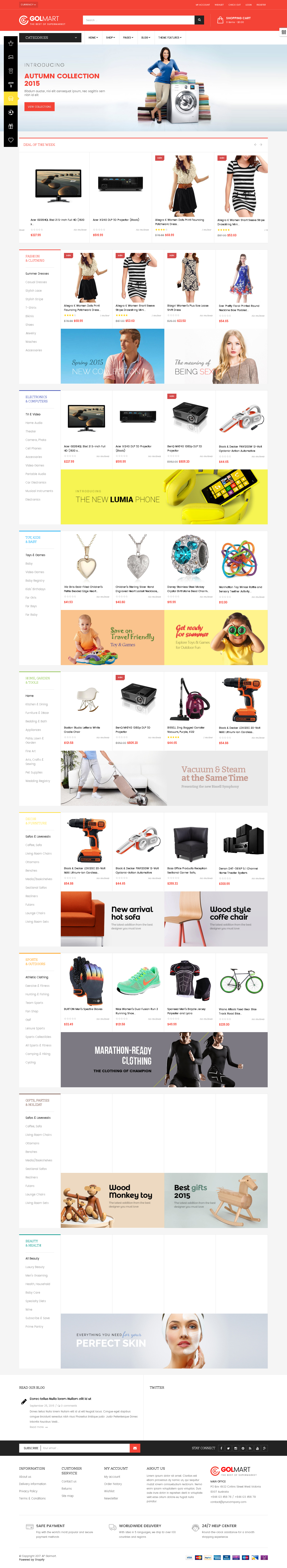 Best SHOPIFY Premium themes collection for Electronics Products Store - Ap Golmart - Responsive Shopify Theme