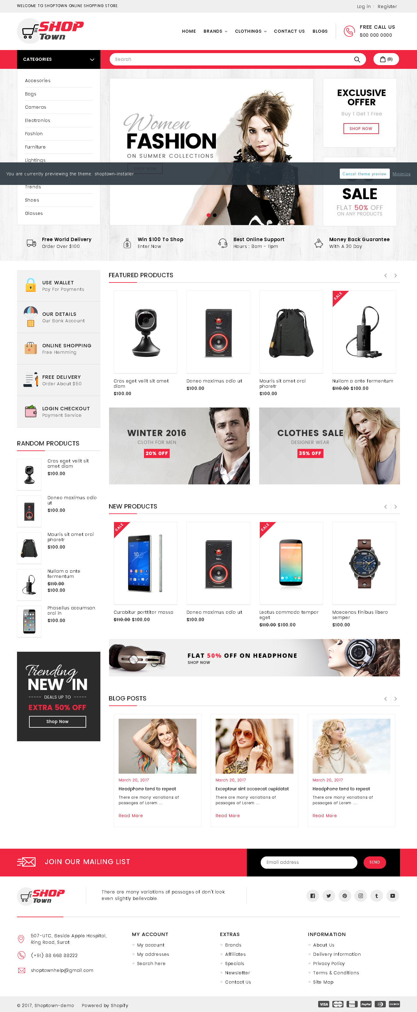 Best Shopify Premium themes collection for Book Store - Shop Town - Sectioned Multipurpose Shopify Theme