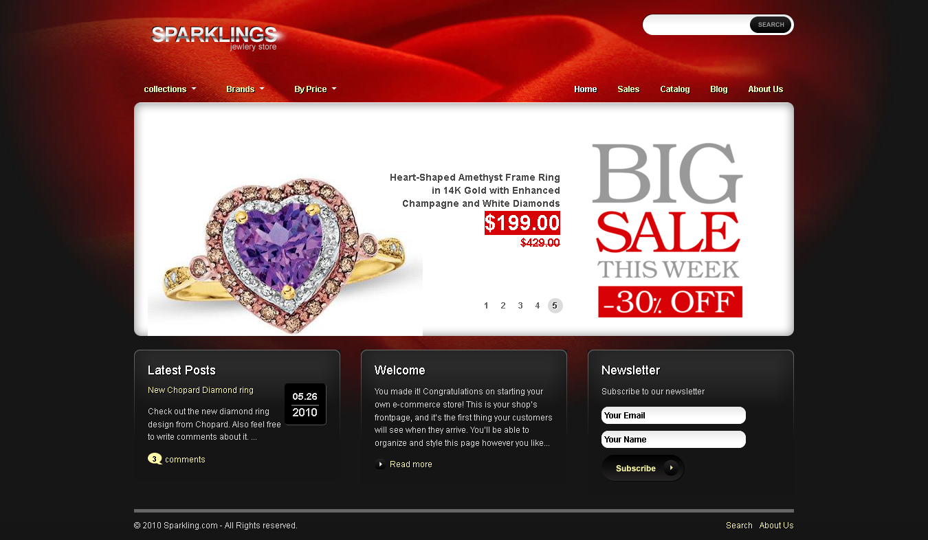 Best Shopify Themes For Jewelry Store - Sparklings Shopify Theme