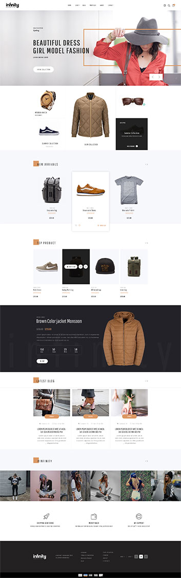 Best Shopify Themes for a Fashion Store - Infinity Drag and drop fashion theme demo