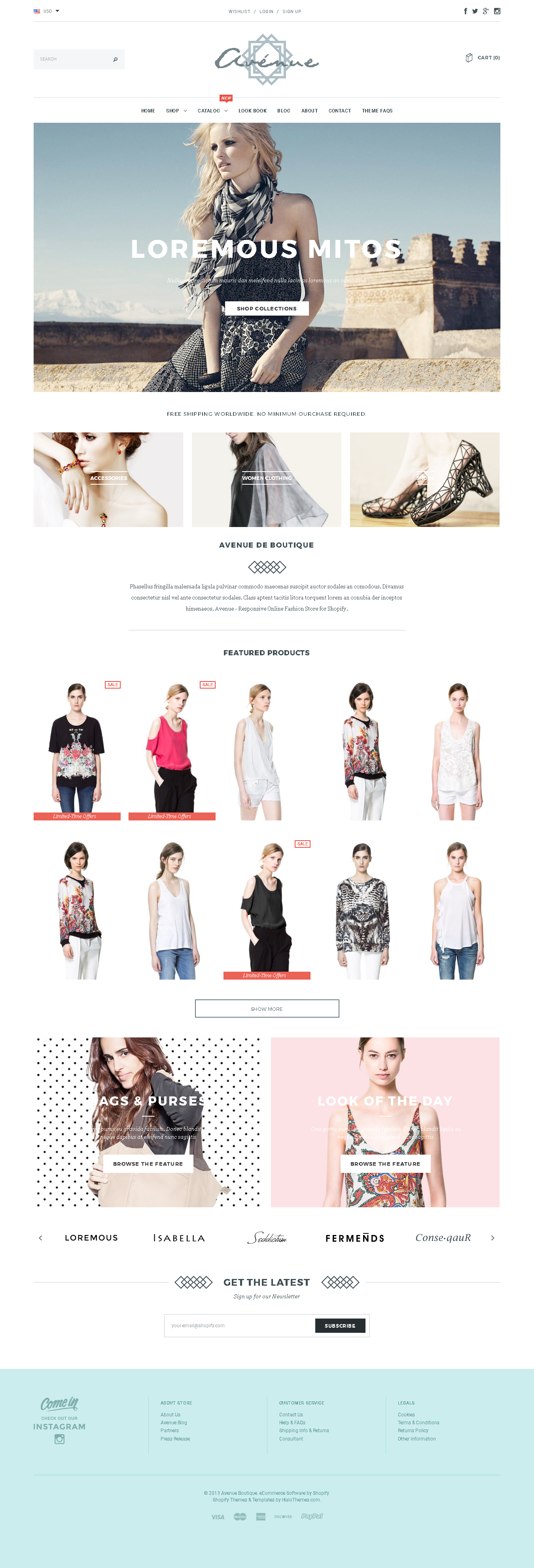 Shopify Themes For Artists - Avenue Shopify theme