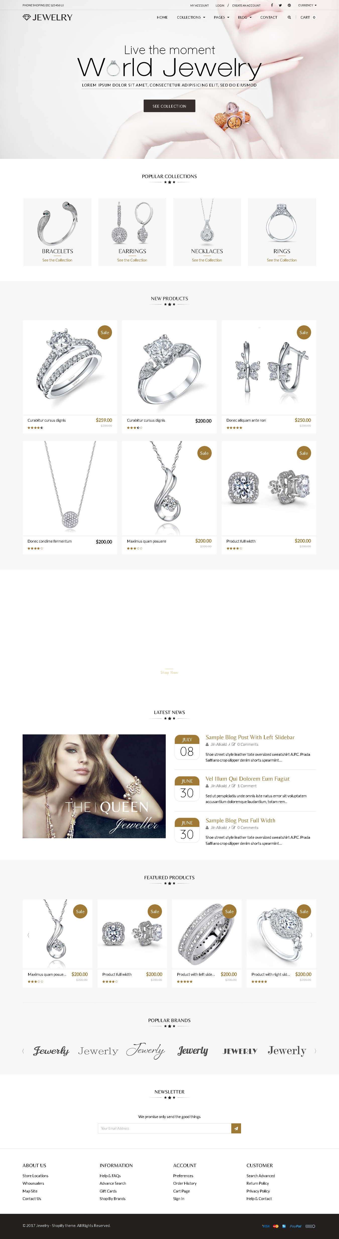 Shopify Themes For Jewelry Store - Jewelry Responsive Shopify Theme