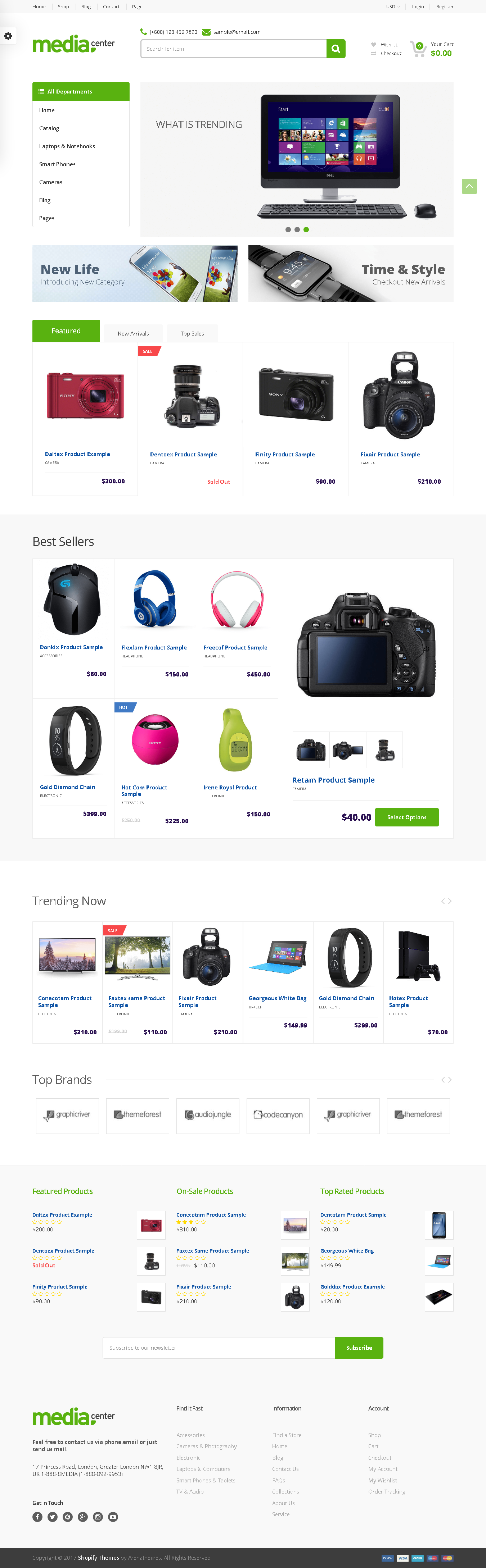 TOP SHOPIFY ELECTRONICS THEME - Electronics Store Responsive Shopify Theme – MediaCenter