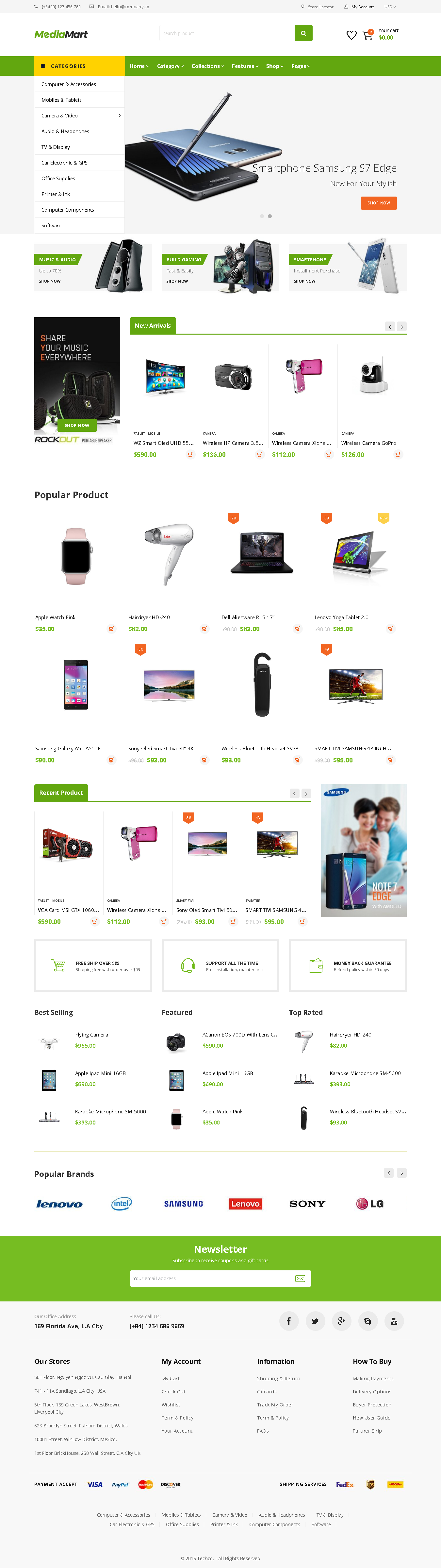 TOP SHOPIFY ELECTRONICS THEME - MediaMart - Electronic, Computer, Gadgets & Digital Multilingual Responsive Shopify Theme