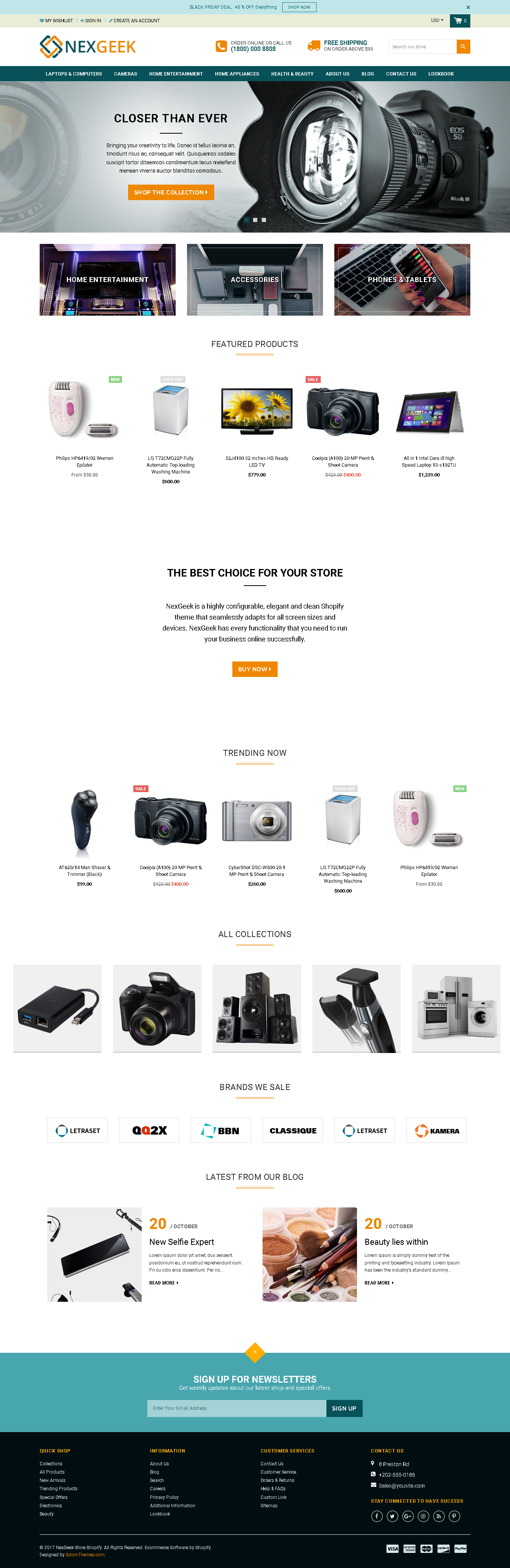 Top 5 Shopify Themes for Selling Digital Products - NexGeek-Multipurpose Responsive Theme for gadget and digital store