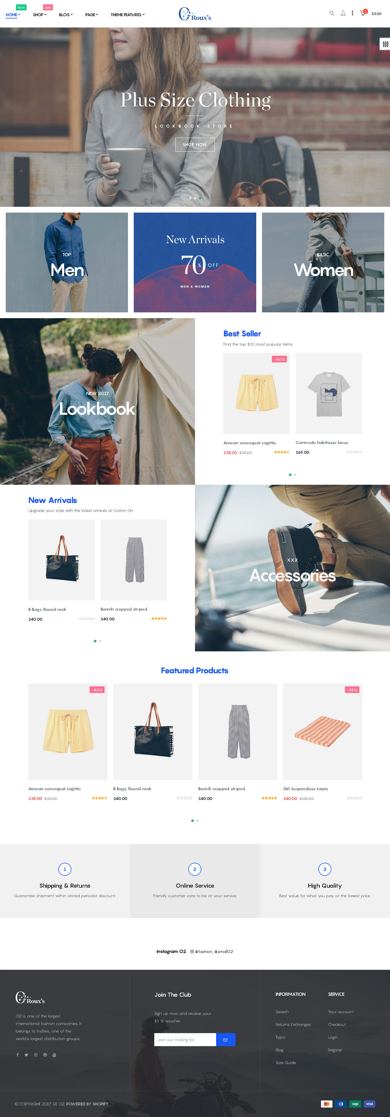 Top 5 Shopify Themes for a Fashion Store O2 Fashion Store demo