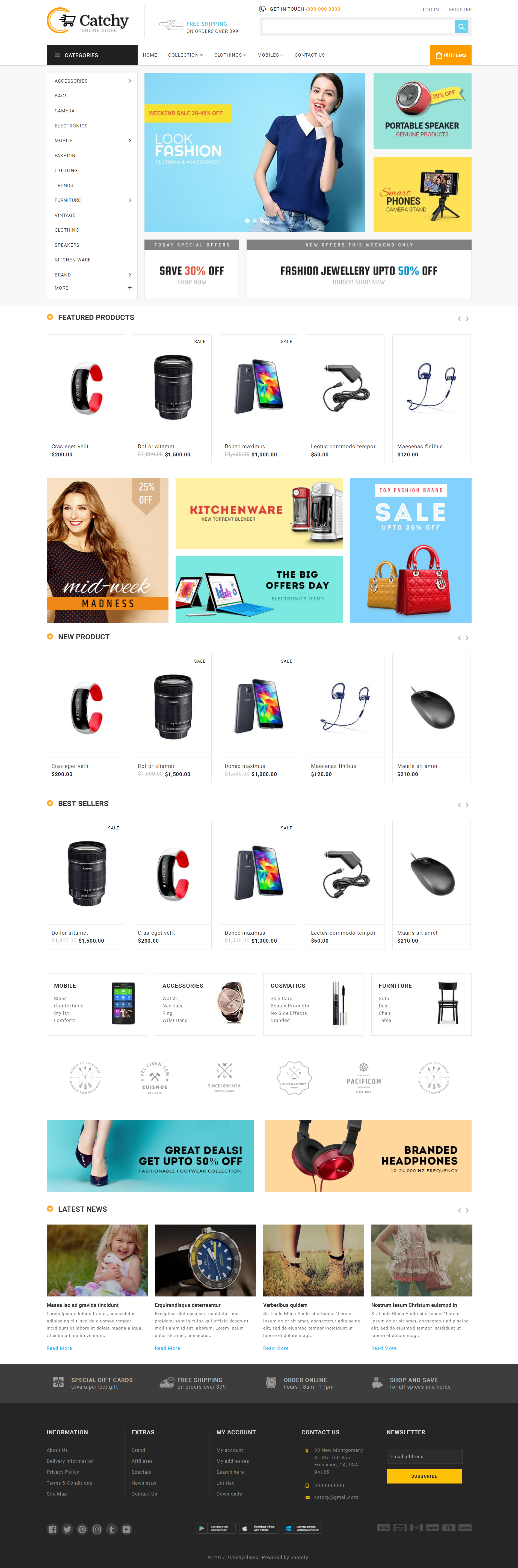 Top Shopify Premium themes collection for Book Store - Catchy - Sectioned Multipurpose Shopify Theme