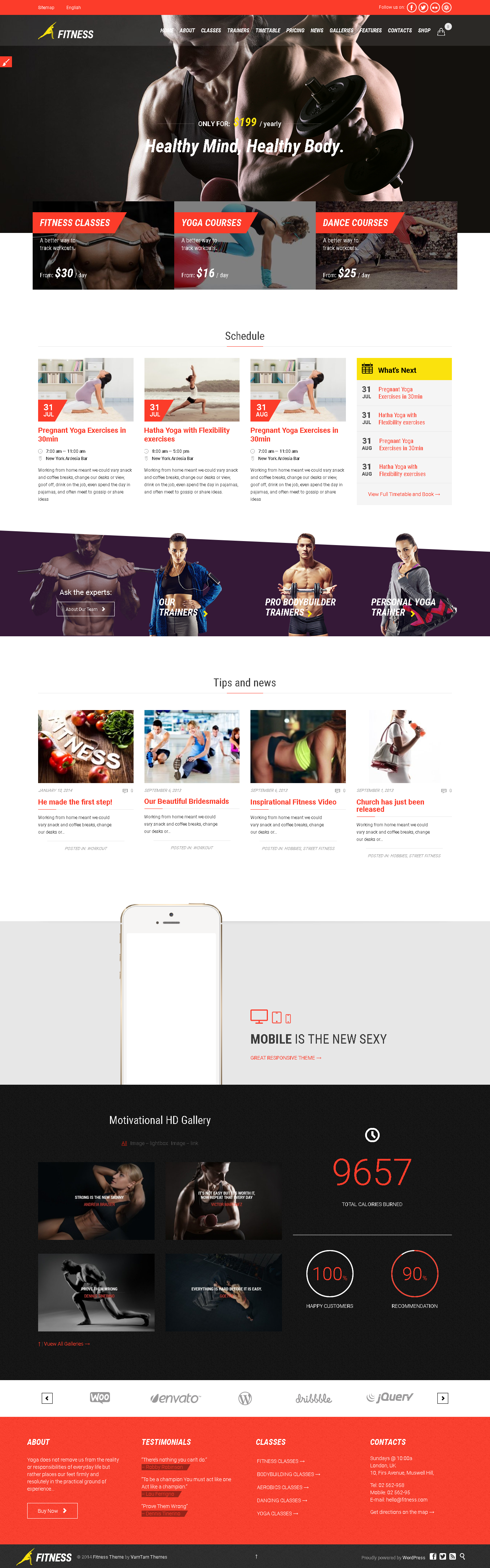 Top best wordpress Theme for Fitness Gym and Fitness Centers - Gym & Fit WP Theme