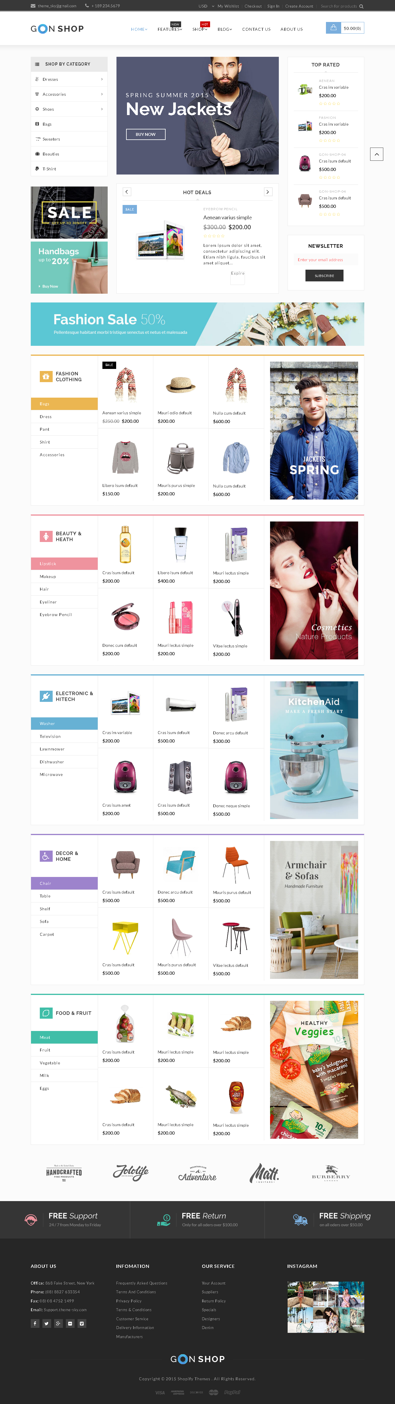 top Shopify Themes For Jewelry Store - Gon - Responsive Ecommerce Shopify Theme