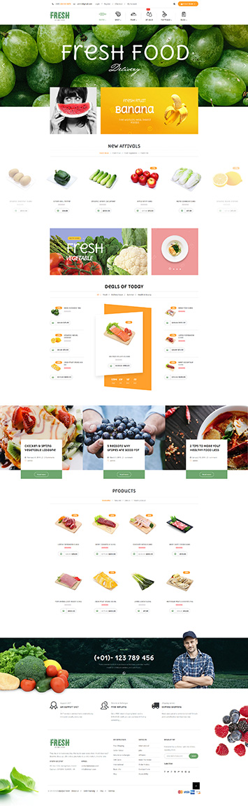 5 Best SHOPIFY Premium Themes Collection for Food Store 2017 - Fresh Food - Fruit Store Shopify