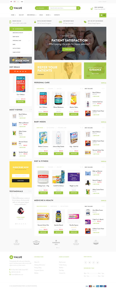 5 Best SHOPIFY Premium Themes Collection for HEALTHCARE Store 2017 - Ap Value Shopify Theme