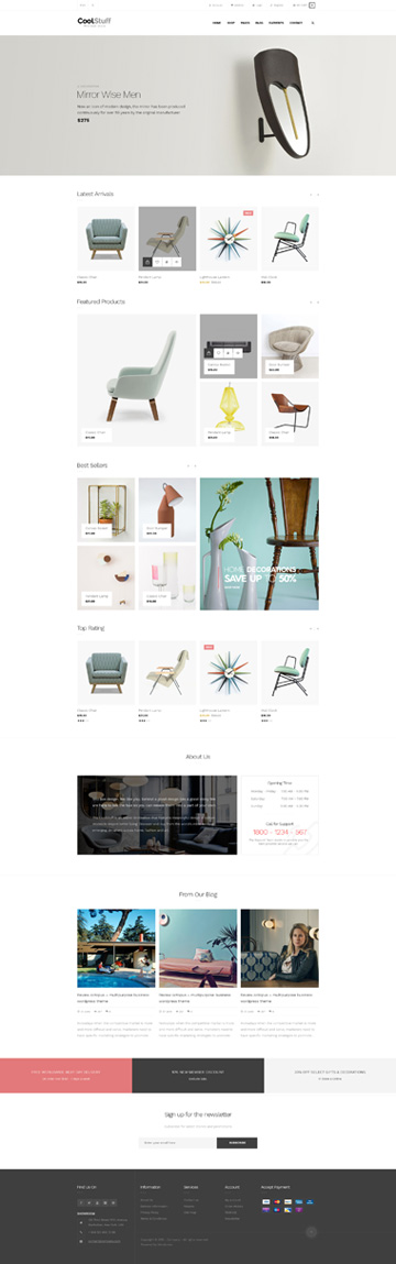 5 Best SHOPIFY Premium Themes Collection for HOMEWARE Accessories Store 2017 - AP cool stuff Shopify Theme