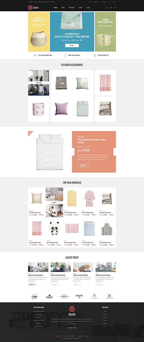 5 Best SHOPIFY Premium Themes Collection for HOMEWARE Accessories Store 2017 - Minimal Fashion Style Shopify Theme - Sections Drag & Drop Page Builder + Furniture & Decor, Kids