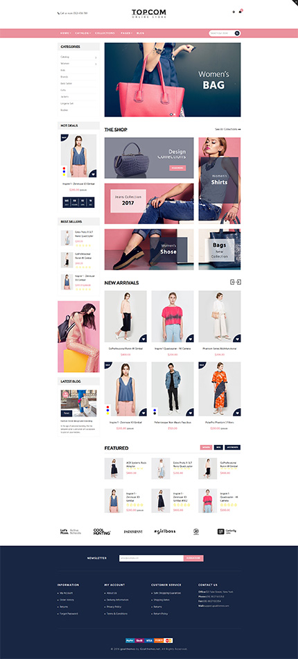 5 Best SHOPIFY Premium Themes Collection for Handbags Store 2017 - Topcom – Responsive Shopify Theme