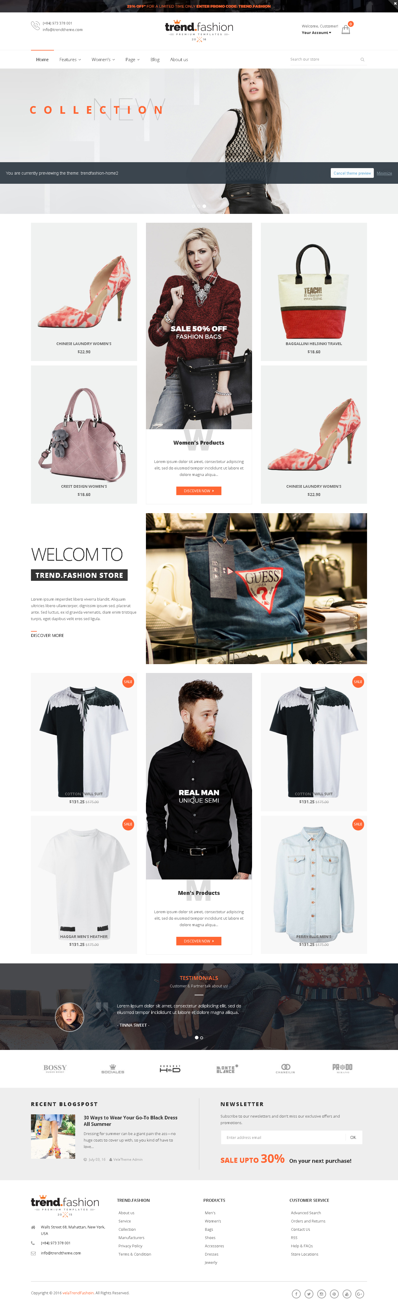 5 Best SHOPIFY Premium Themes Collection for Handbags Store 2017 - TrendFashion - Multipurpose Responsive Shopify theme