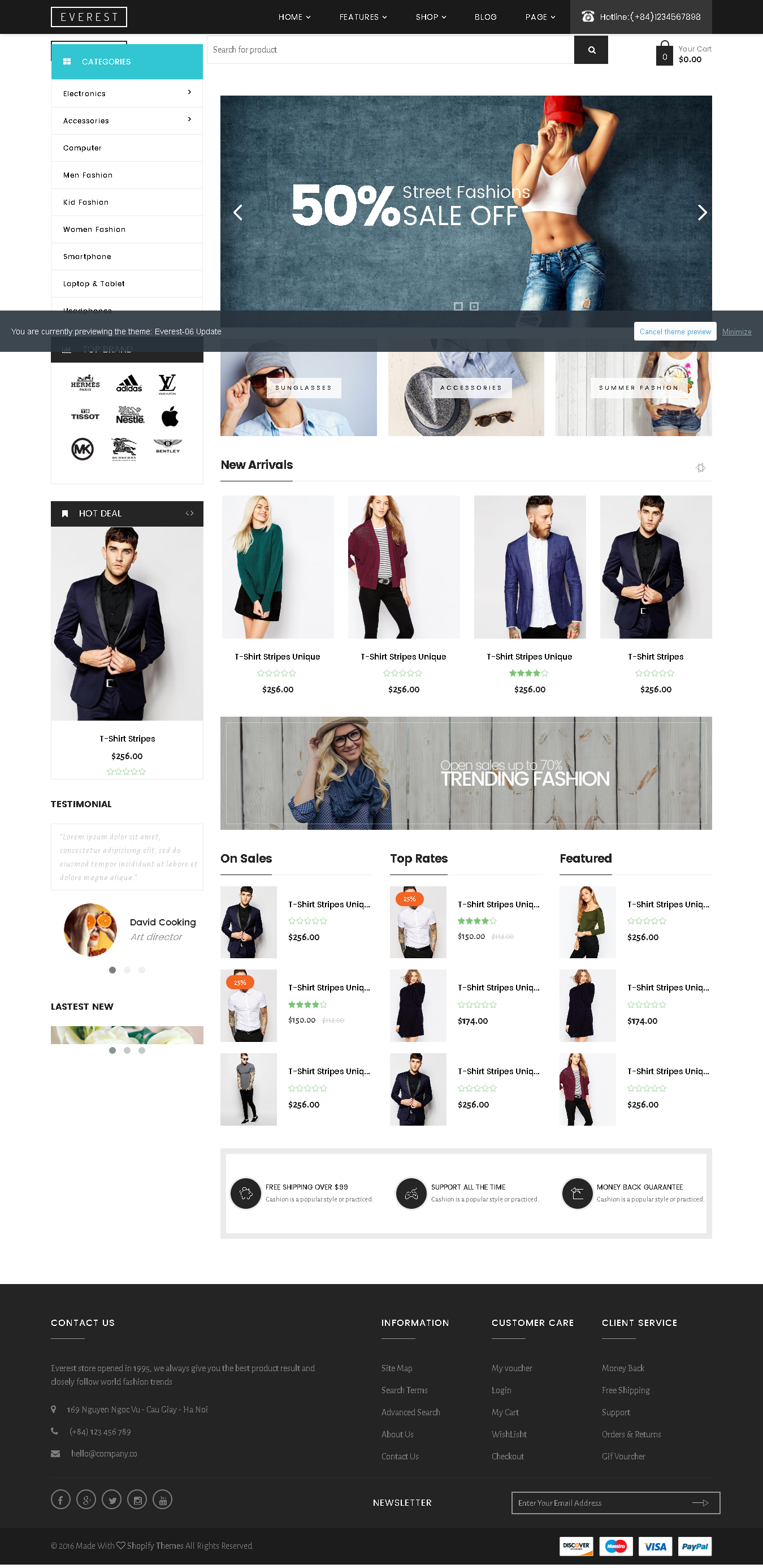 5 Best SHOPIFY Premium Themes Collection for Lingerie Store 2017 -Everest - Multipurpose Responsive Shopify Theme
