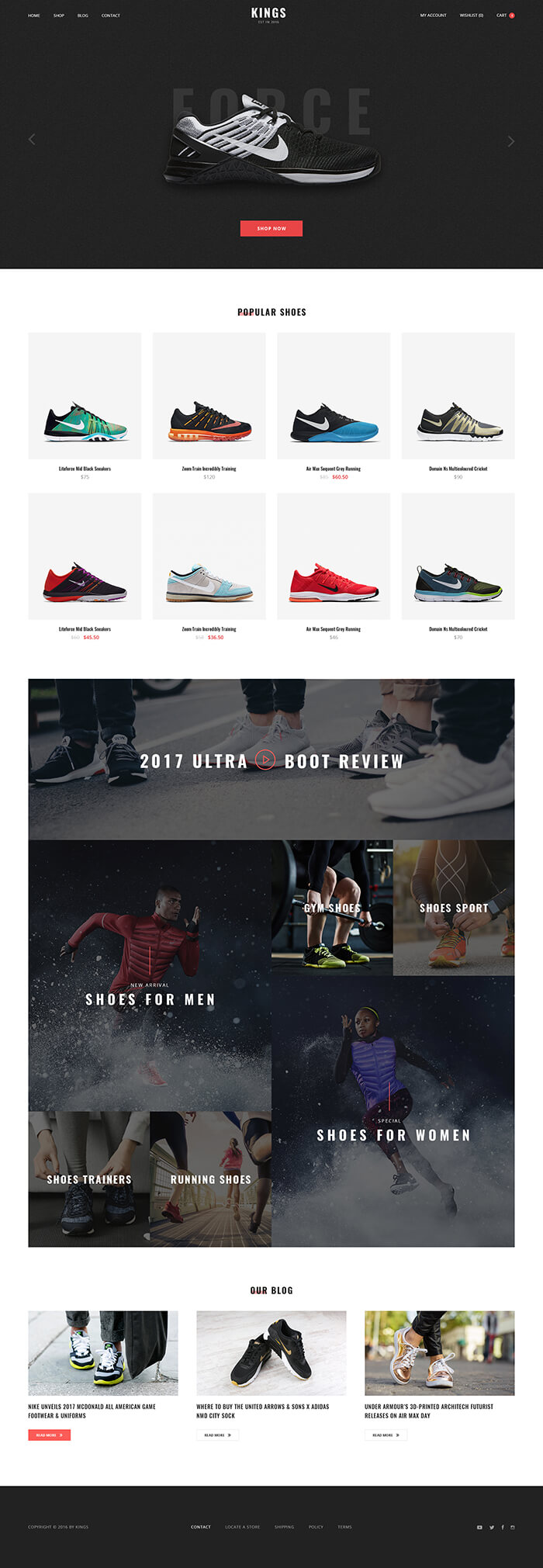 5 Best SHOPIFY Premium Themes Collection for RETAIL Store 2017 -KINGS - Multi Store Responsive Shopify Theme