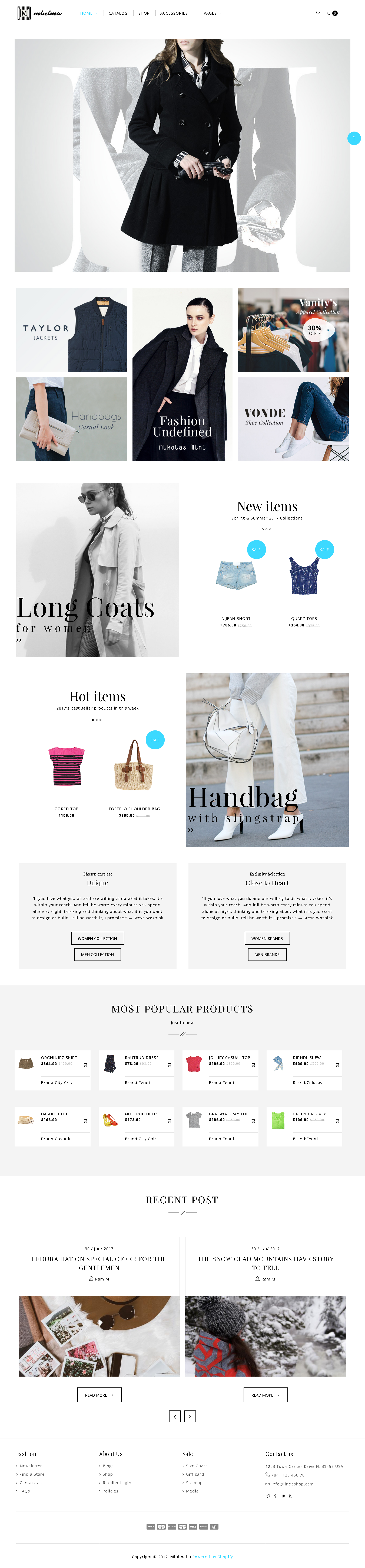 5 Best SHOPIFY Premium Themes Collection for RETAIL Store 2017 -Minima- Shopify Minimal Theme