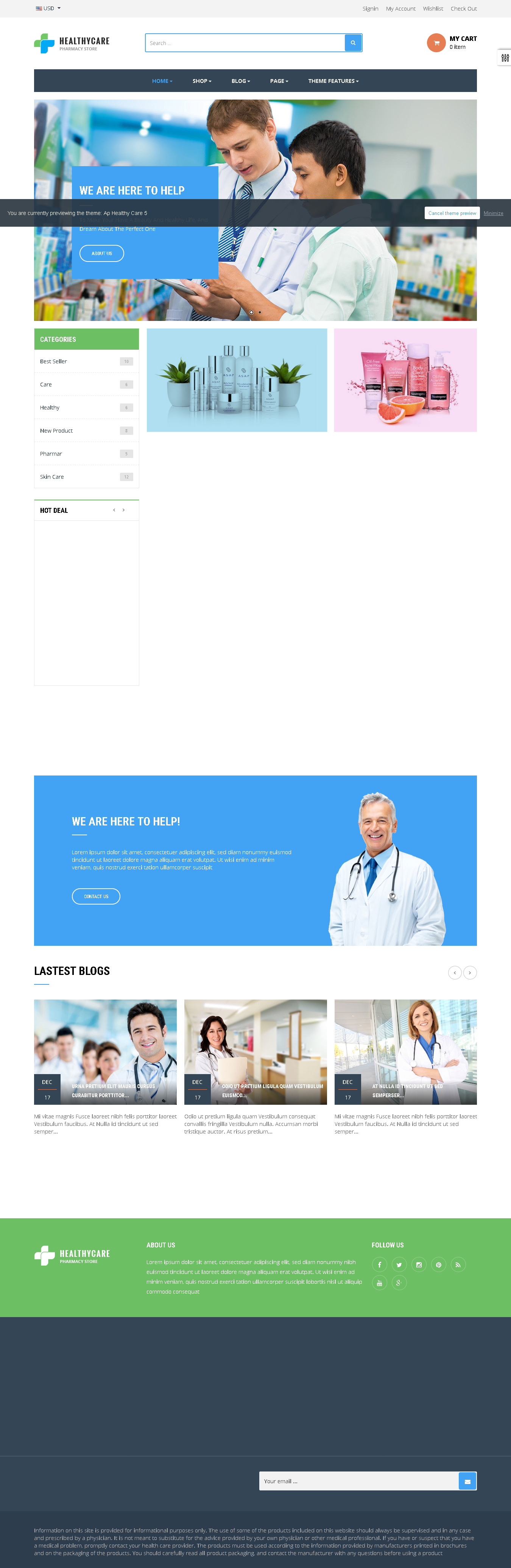 5 Best SHOPIFY Premium Themes Collection for SERVICES Store 2017 - Ap Healthy Care Shopify Theme