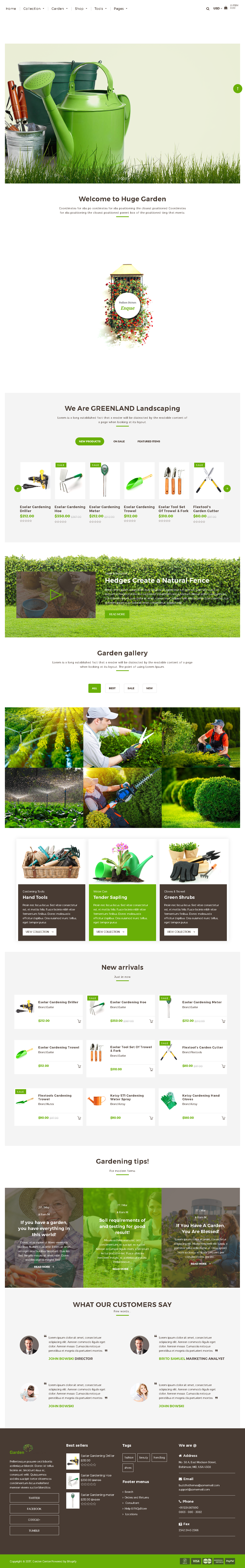 5 Best SHOPIFY Premium Themes Collection for SERVICES Store 2017 - Garden Accessories Gardening Landscaping Tools Shopify Theme