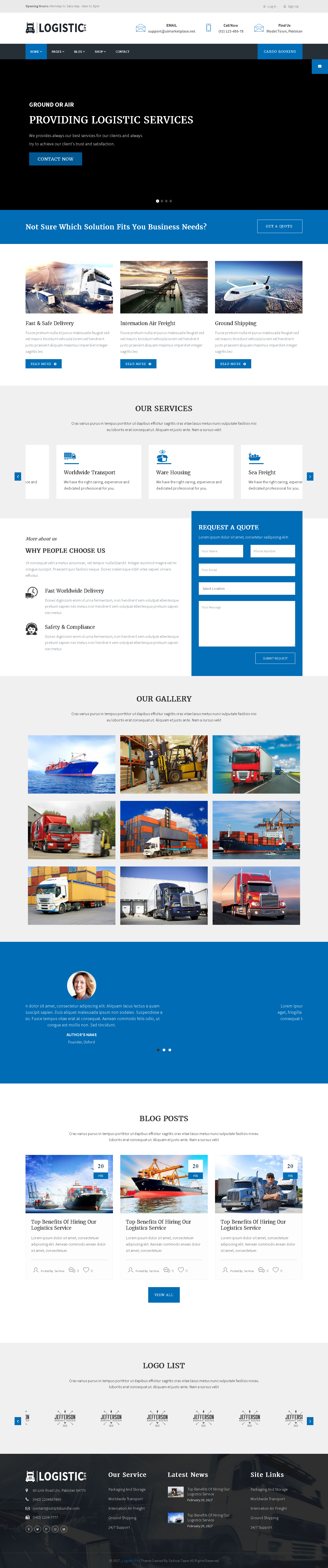 5 Best SHOPIFY Premium Themes Collection for SERVICES Store 2017 - Logistic Pro - Transport - Cargo - Online Tracking - Booking & Logistics Services Shopify Theme