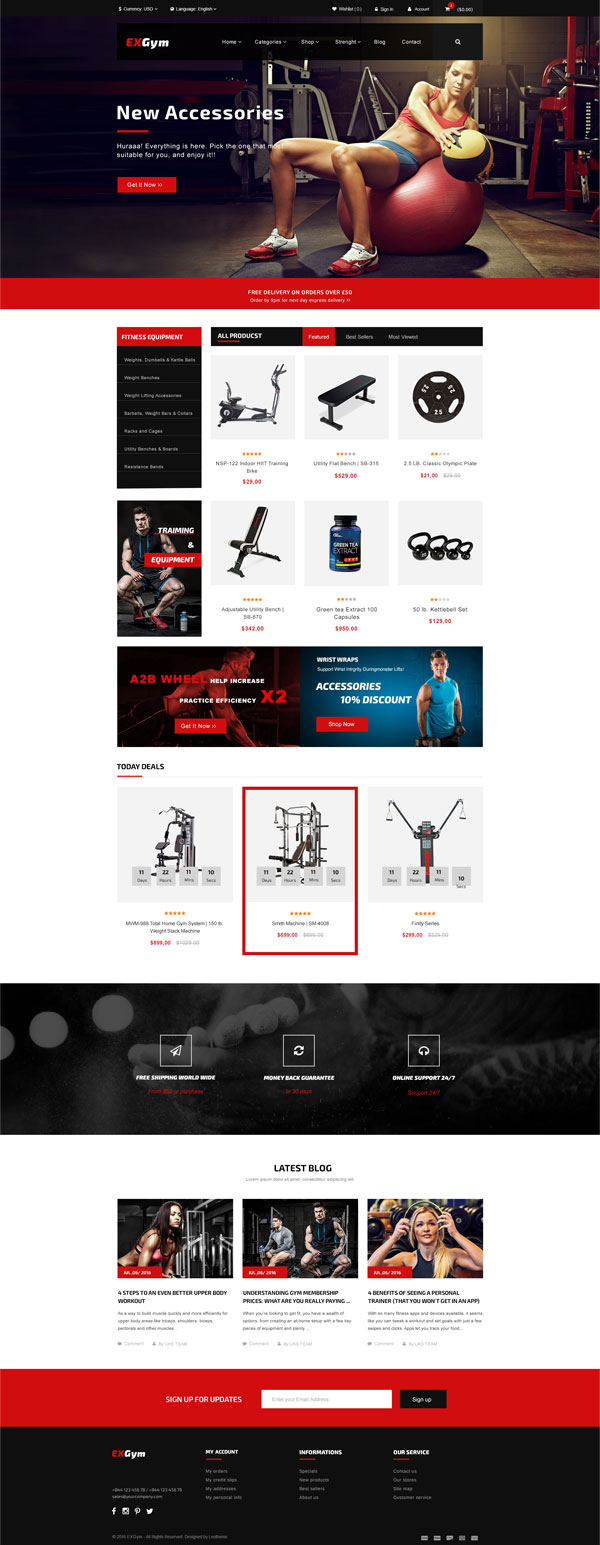 5 Best SHOPIFY Premium Themes Collection for SPORTS Store 2017 - Ap Exgym