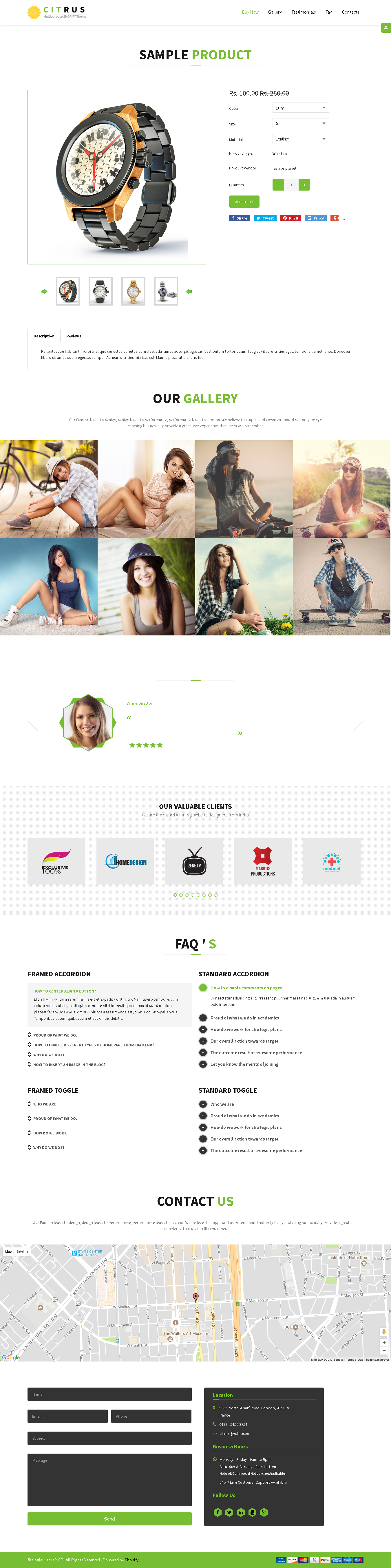 5 Best SHOPIFY Premium Themes Collection for Single Product Store 2017 - Citrus one-page parallax Shopify Theme
