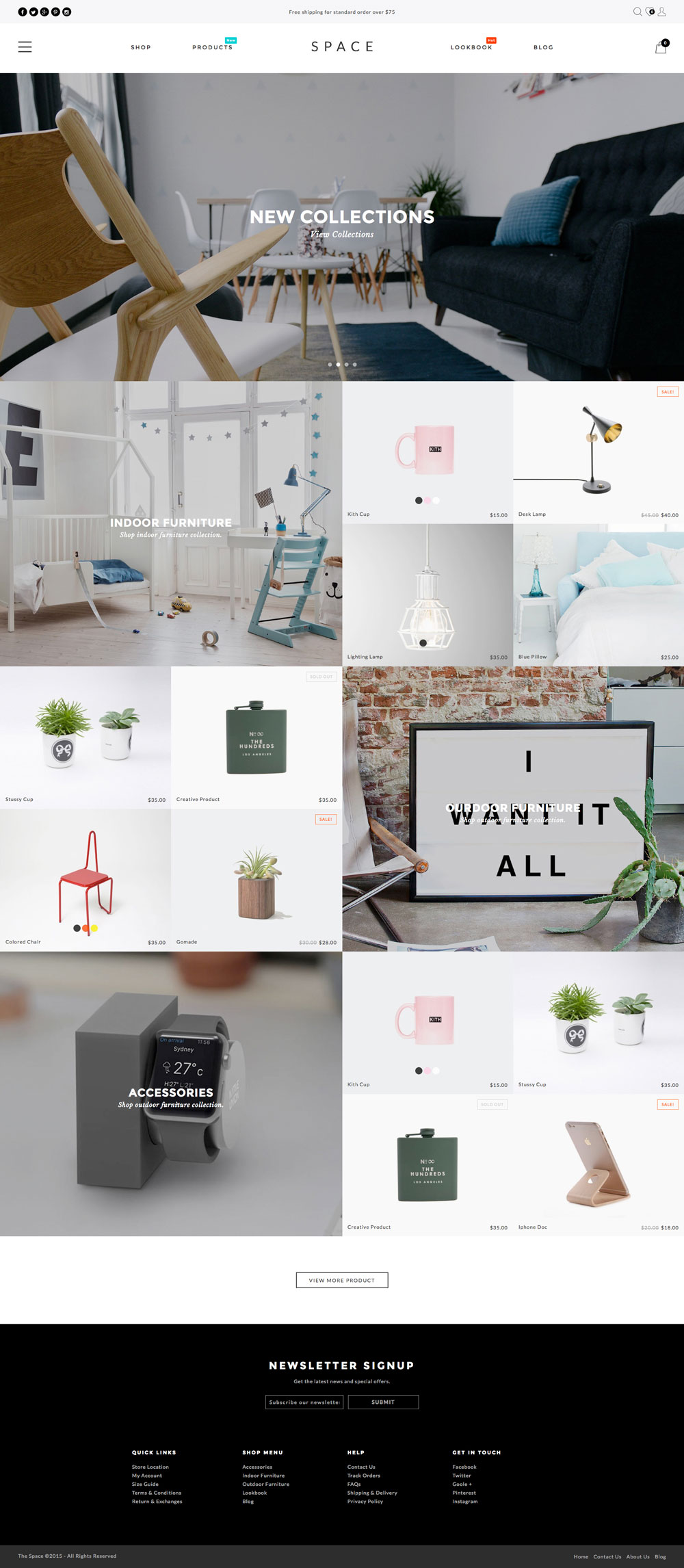 5 Best SHOPIFY Premium themes collection for Furniture Store - Space - Minimalist, Clean - Furniture, Fashion Shopify Theme