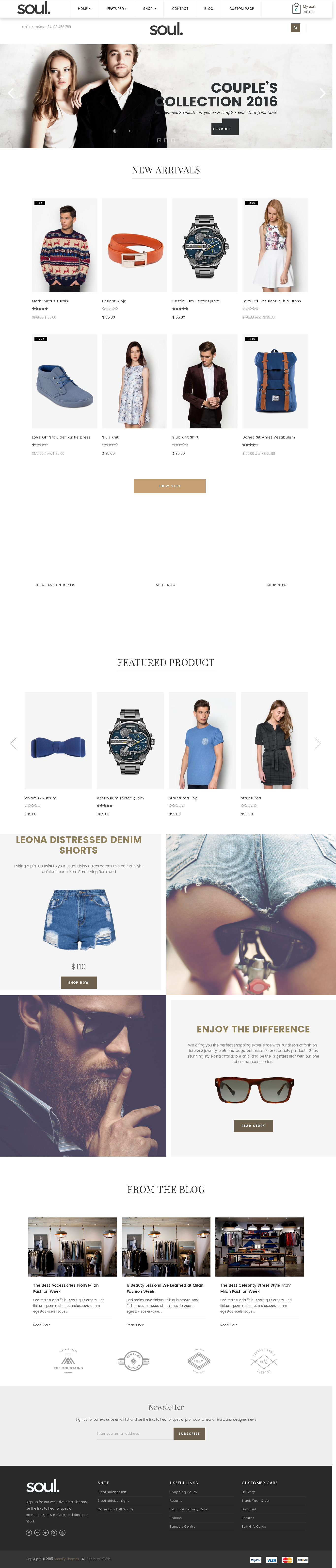 Best SHOPIFY Premium Themes Collection for Lingerie Store 2017 - Soul - Responsive Multi-purpose Shopify Theme