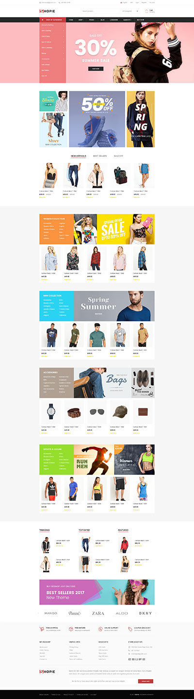 Best SHOPIFY Premium Themes Collection for SUPERMARKET Store 2017 - SHOPIE- Responsive Multi-Purpose Shopify Theme - Fashion Clothing Supermarket Electronics Minimal
