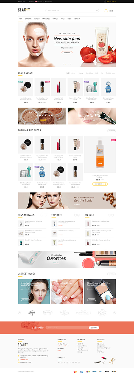 5 Best SHOPIFY Premium Themes Collection for Cosmetics Stores 2017 - Beauty Shopify Theme