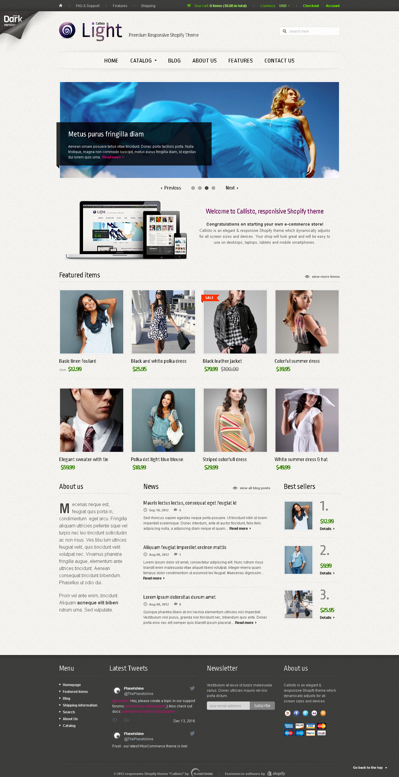 Best SHOPIFY Premium RESPONSIVE Themes Collection for Online Stores -Callisto for Shopify – Premium Responsive Theme