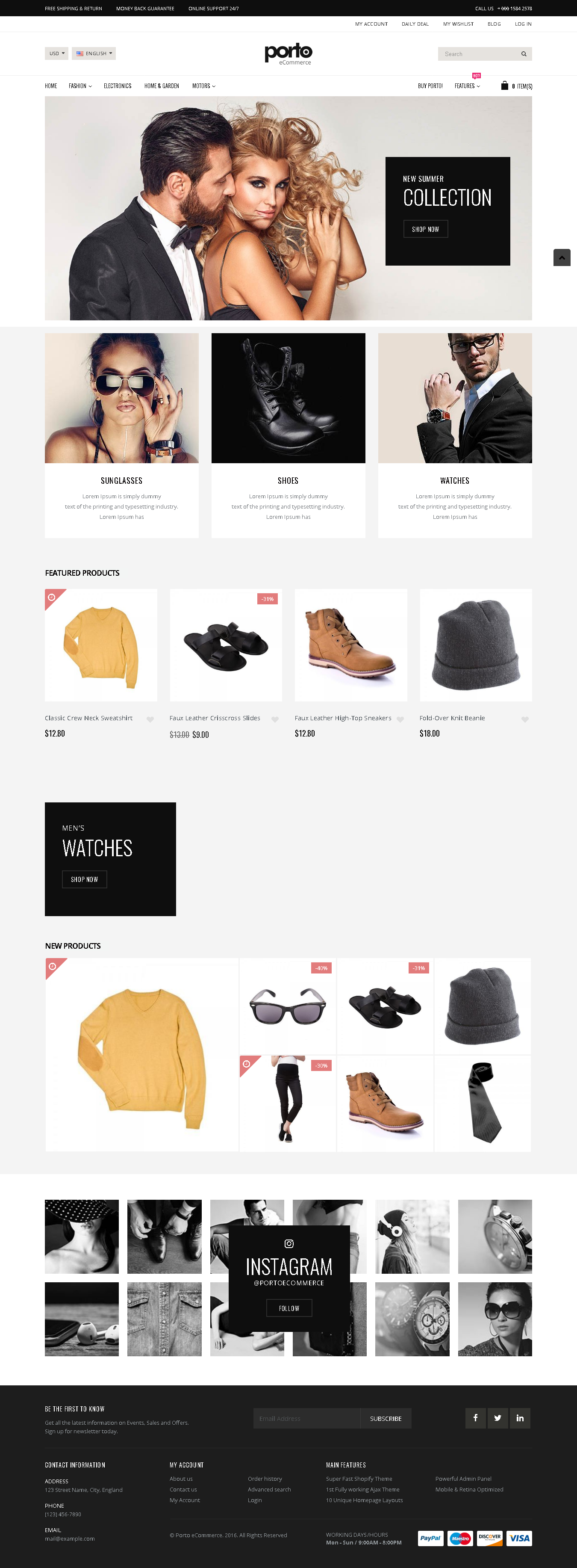Best SHOPIFY Premium RESPONSIVE Themes Collection for Online Stores -Porto - Ultimate Responsive Shopify Theme