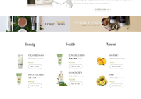 Best SHOPIFY Premium Themes Collection for Cosmetics Stores - Organica - Organic, Beauty, Natural Cosmetics, Food, Farn and Eco drag and drop Shopify Theme