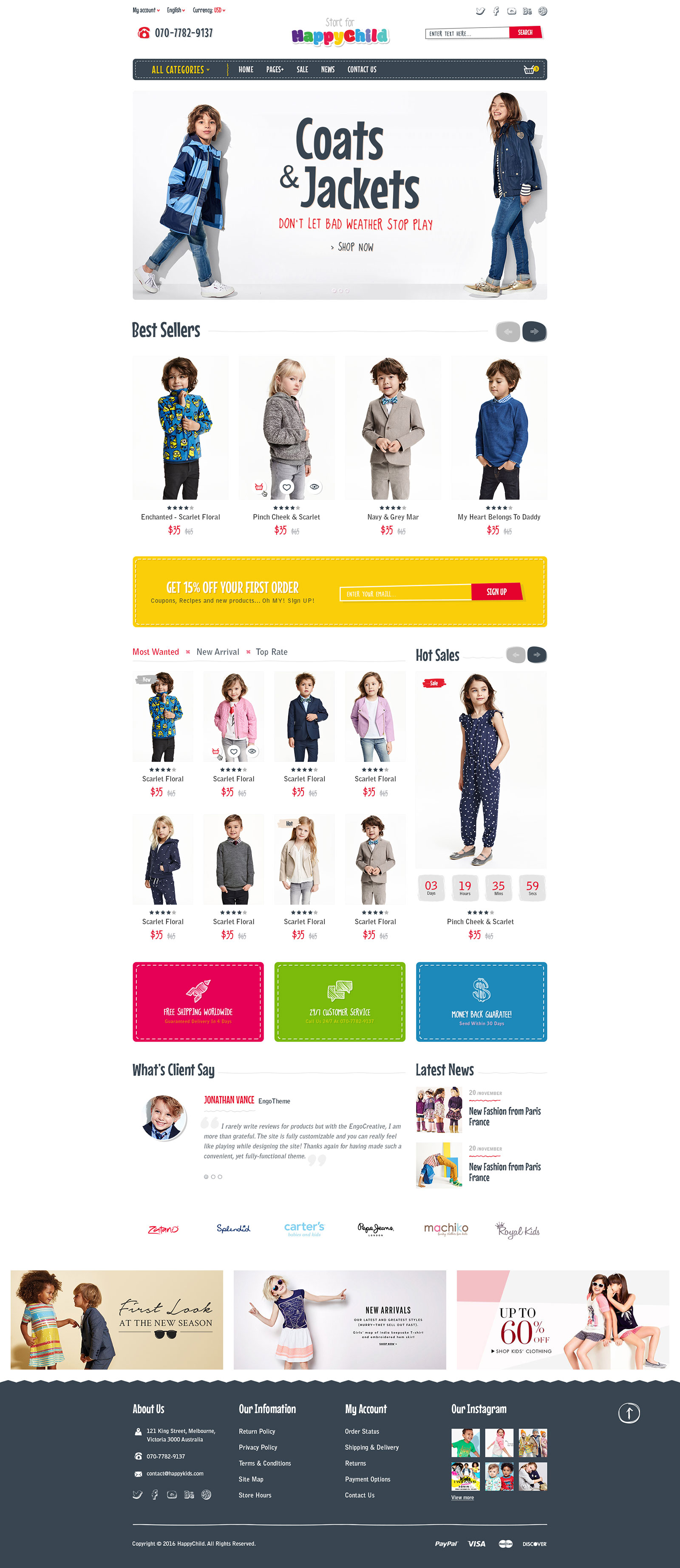 Best SHOPIFY Premium Themes Collection for Toy Stores 2017 - HappyChild - Multi Store Responsive Shopify Theme