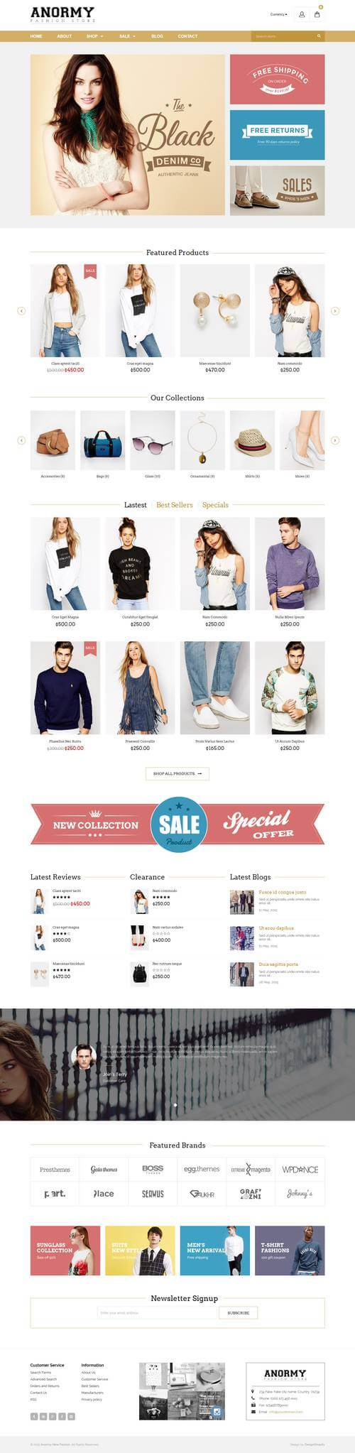 Best SHOPIFY Premium Themes Collection for large inventory Stores 2017 - Anormy - Flexible Shopify Template