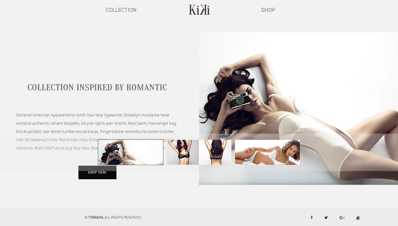 Best WordPress WooCommerce Premium Themes Collection for LINGERIE Store - Kiki — Multipurpose Modern WooCommerce Fashion Shop