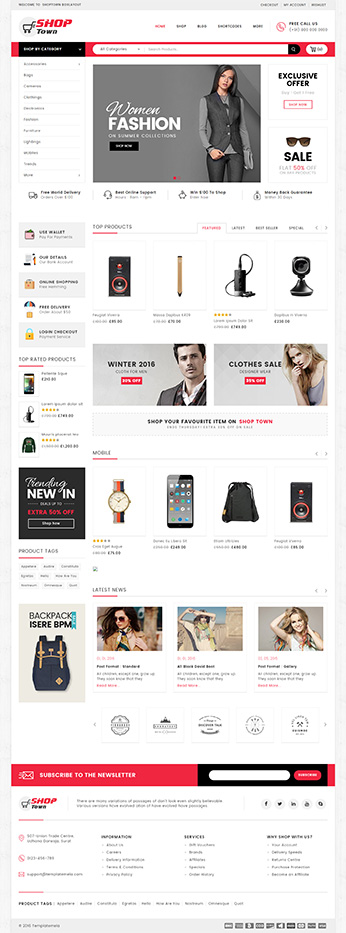 Download BOX LAYOUT fashion woocommerce theme - BOX LAYOUT template