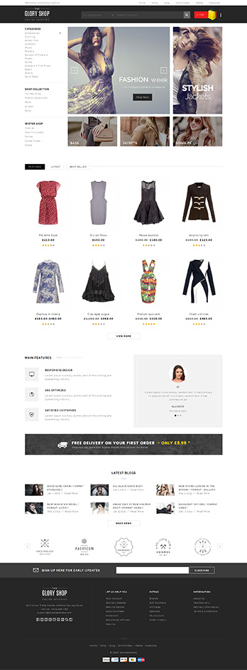 Download Glory Shop - Multipurpose WooCommerce Theme - Download Sidebar fashion wordpress theme