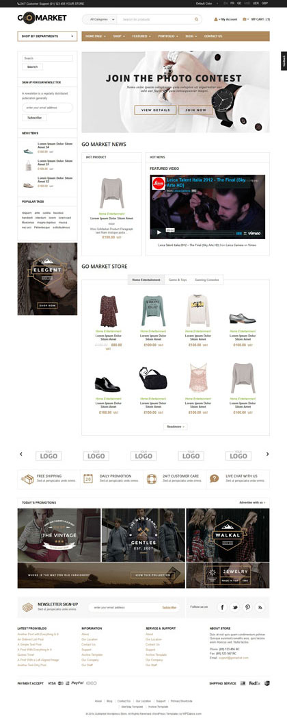 Download Home page with sidebar - WooCommerce fashion store Theme