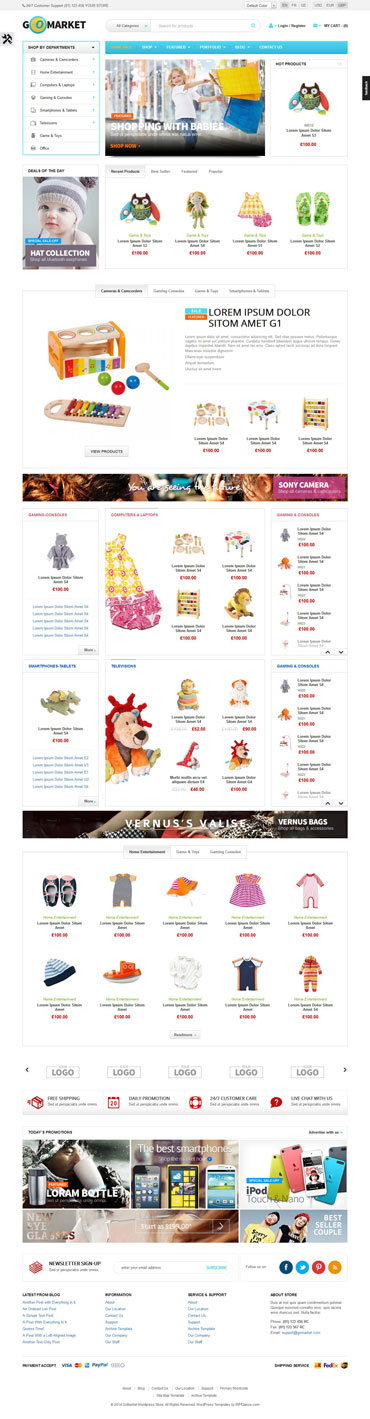 Download kids store WooCommerce Theme - kids store GoMarket theme