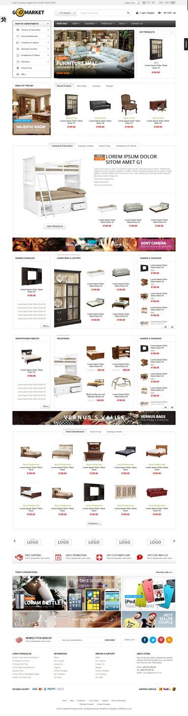 Funiture Store WooCommerce Theme - Download GoMarket theme for wordpress