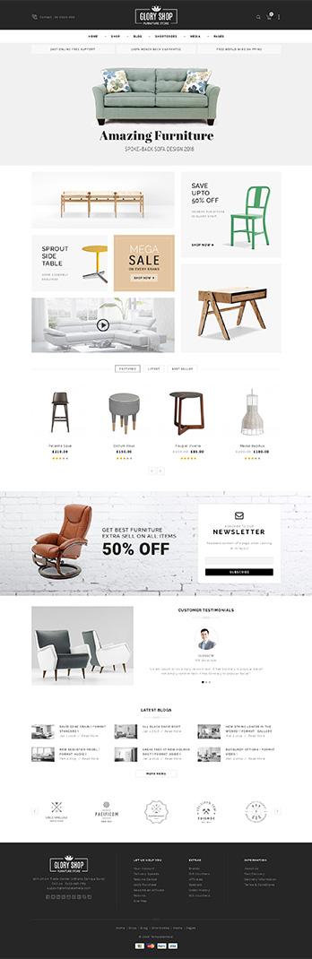 Furniture Store WooCommerce Theme - Download Glory Shop - Multipurpose WooCommerce Theme