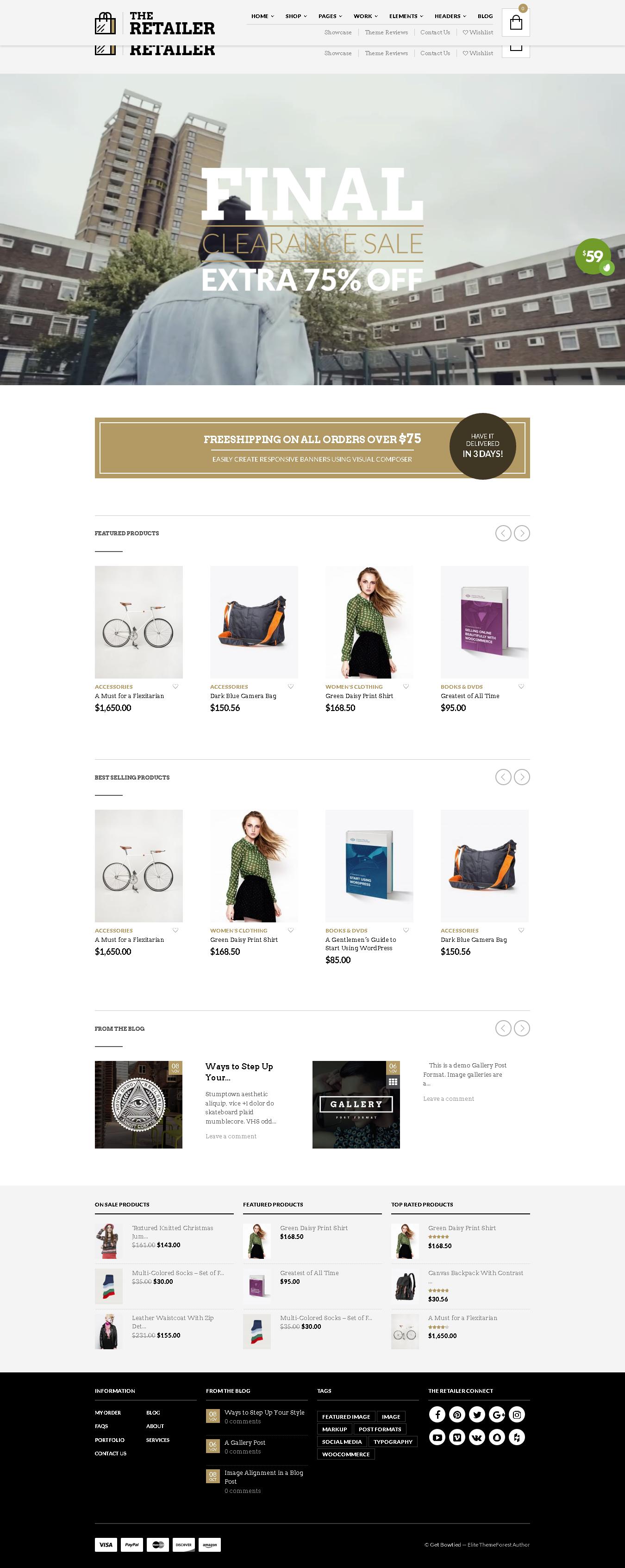 List of Top 5 WordPress WooCommerce themes for Art Studio Store - The Retailer - Responsive WordPress Theme