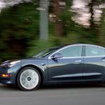 Tesla Model 3 on road