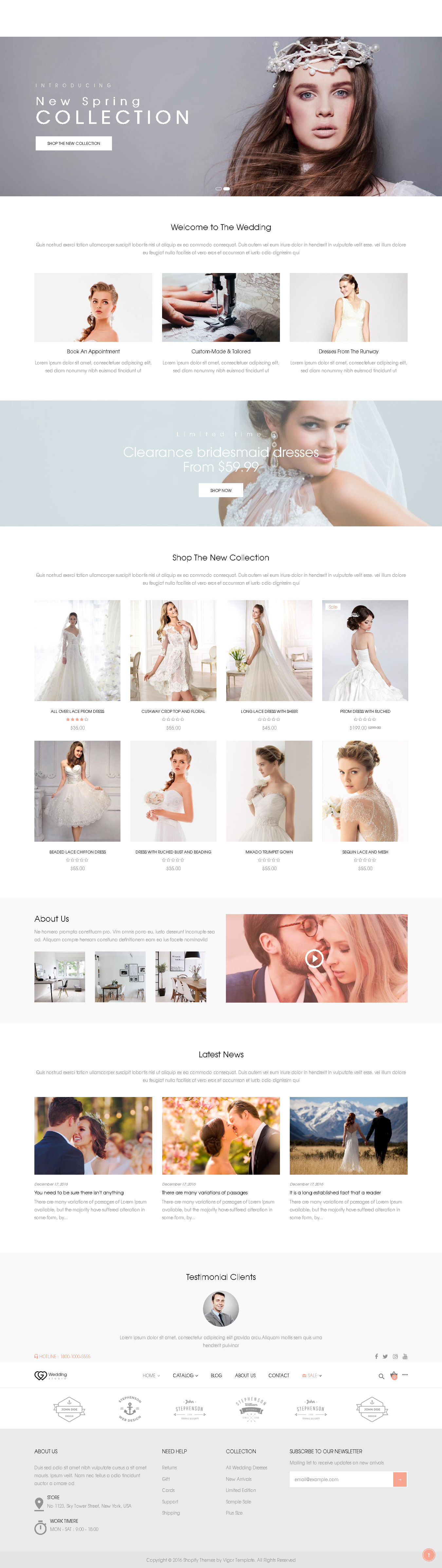 Best Shopify Themes For Wedding Store Handpicked Themes Collection