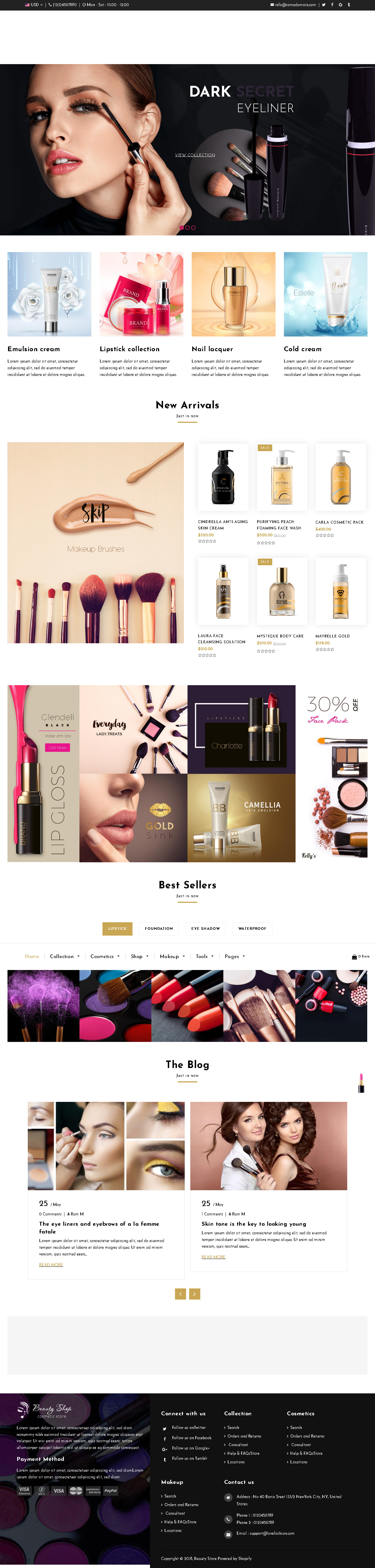 Best Shopify themes for Cosmetics store - Beauty – Cosmetics and Fashion Beauty Shopify Theme