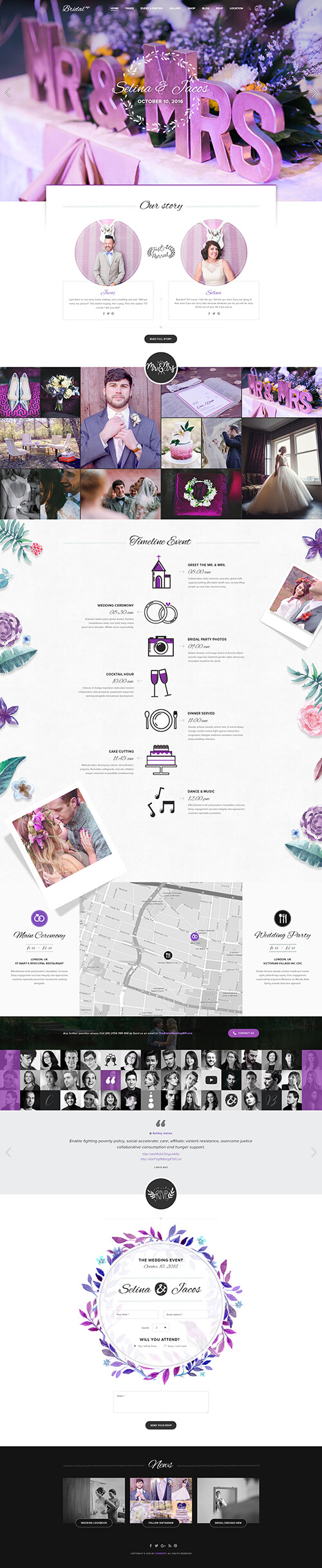 Download bridal sectioned responsive shopify theme multipurpose for wedding couple wendy for Shopify theme download