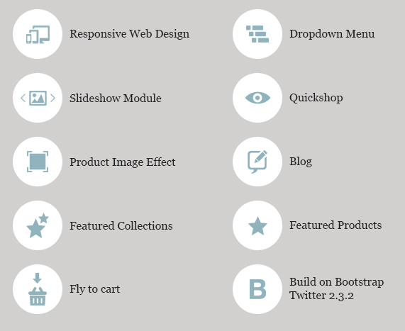 High Fashion Responsive Shopify Theme - Parallax Features lists